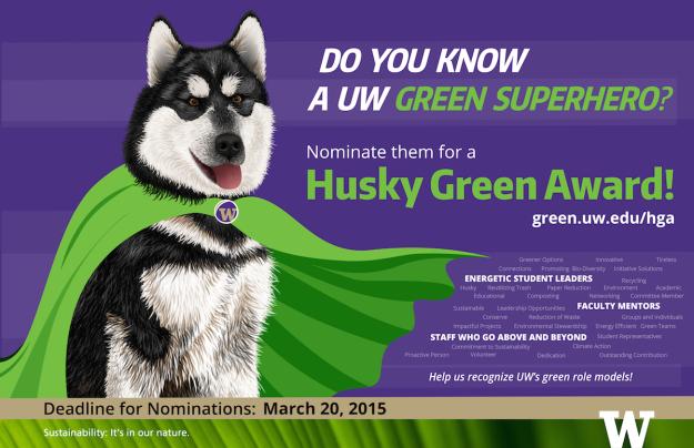 Husky Green Award Image