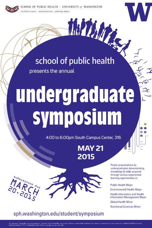 SPH Undergraduate Symposium Flyer