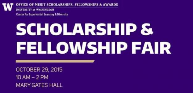 2015 Scholarship and Fellowship Fair Banner