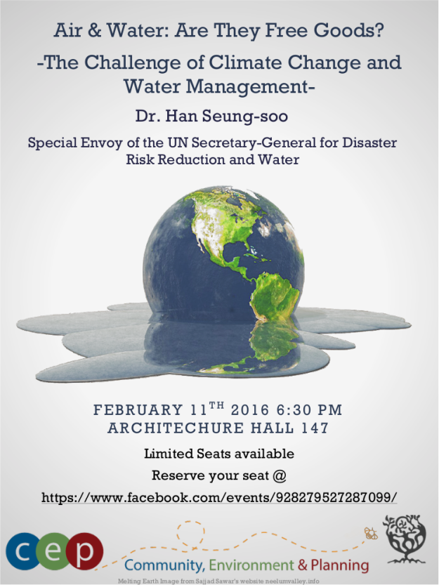 CEP Talk Climate Change and Water Management Flyer