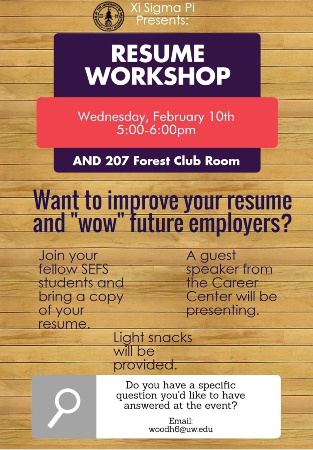 Resume Workshop Flyer WIN 2016