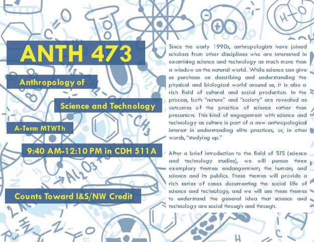ANTH 473 SUM 2016 Course Flyer